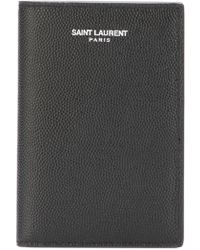 Saint Laurent - 'Paris' Cardholder Wallet - Lyst