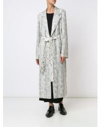 CALVIN KLEIN 205W39NYC - Printed Belted Mid-length Coat - Lyst