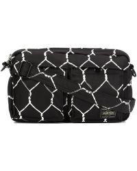 Undercover - ' X Porter' Fence Print Shoulder Bag - Lyst