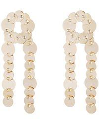 Eddie Borgo - Crisscross Pinned Paillette Earrings - Lyst