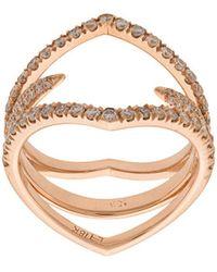 Eva Fehren - Diamond Detail Ring - Lyst