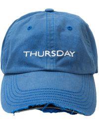 Vetements - Thursday Embroidered Weeday Baseball Cap - Lyst
