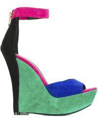 Balmain - Multicolour High Sandals - Lyst