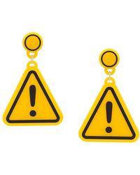 Yazbukey - Warning Sign Earrings - Lyst