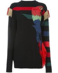 Sonia Rykiel - Parrot Intarsia Sweater - Lyst