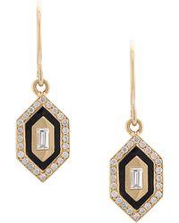 Azlee - Small Diamond Earrings - Lyst