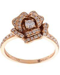 Anita Ko - Pave Rose Flower Ring - Lyst