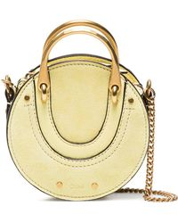 Chloé - Yellow Pixie Nano Suede Cross Body Bag - Lyst