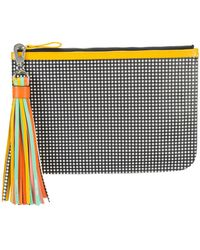 Pierre Hardy - Checkered Print Pouch Clutch Bag With Tassel Detail - Lyst