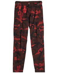 Valentino - Camouflage Cargo Pants - Lyst
