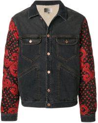 Isabel Marant - Quilted Sleeve Denim Jacket - Lyst