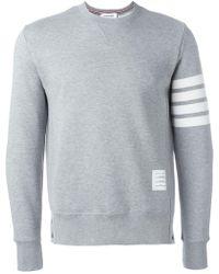 Thom Browne - Striped Sleeve Sweatshirt - Lyst