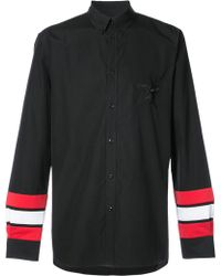 Givenchy - Striped Sleeve Shirt - Lyst