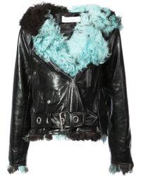 Marques'Almeida - Fitted Fur Biker Jacket - Lyst