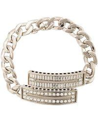 Maison Margiela - Crystal Embellished Curb Chain Bracelet - Lyst