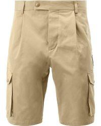 Moncler - Multi Pockets Logo Patch Shorts - Lyst