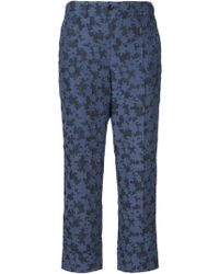 Julien David | Floral Cropped Trousers | Lyst