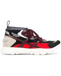Valentino - Leather Sneaker Sound High - Lyst