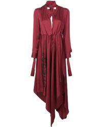 Off-White c/o Virgil Abloh - Asymmetric Plunge-neck Dress - Lyst