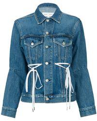 Proenza Schouler | Denim Jacket With Drawstring Waist | Lyst
