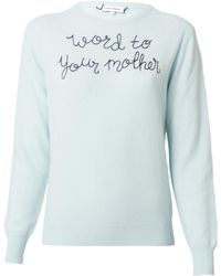 """Lingua Franca - """"word To Your Mother"""" Sweater - Lyst"""