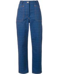 JW Anderson - Grid Printed Denim Trouser - Lyst