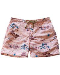 Thorsun - Polynesian Print Titan Swim Shorts - Lyst