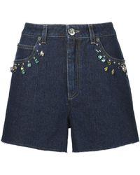 Sonia Rykiel - Embellished Denim Shorts - Lyst