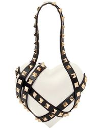 Valentino - White Rockstud Heart Bag - Lyst