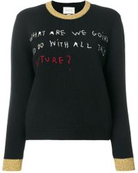 Gucci - Coco Capitán Embroidered Knit Top - Lyst