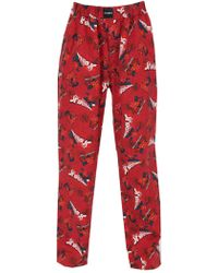 Vetements - Red Graphic Pyjama Trousers - Lyst