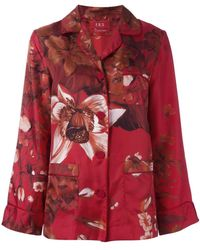 For Restless Sleepers - Floral Print Pyjama Blouse - Lyst