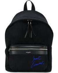 Saint Laurent - Mini City Embroidered Backpack - Lyst
