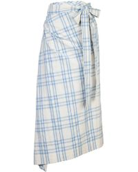Rosie Assoulin - Draped Checked Skirt - Lyst