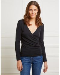 The White Company - Jersey Wrap Top - Lyst