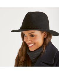 The White Company - Plaited Trim Fedora Hat - Lyst