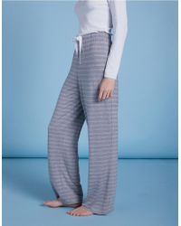 c85851f9e4203 The White Company - Jersey Stitch Stripe Pajama Bottoms - Lyst
