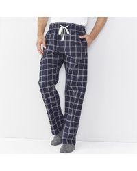 The White Company - Navy Check Pajama Bottoms - Lyst