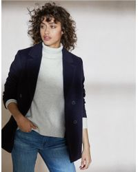 The White Company - Double Breasted Pea Coat - Lyst