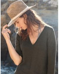 The White Company - Open Weave Straw Hat - Lyst