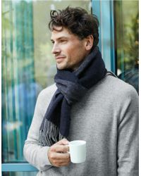The White Company - Cashmere-wool Reversible Scarf - Lyst