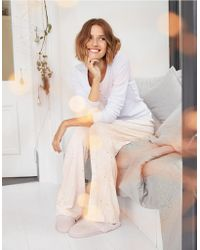 The White Company - White Heart Foundation Print Pyjama Bottoms - Lyst 2d9948651