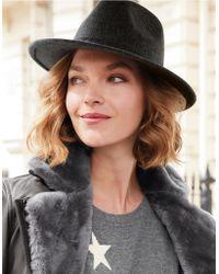 The White Company - Wool Self Trim Fedora Hat - Lyst