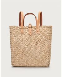 63c94935edf2d5 Michael Kors Krissy Large Straw Backpack in Natural - Lyst