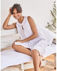 The White Company - Cotton Pintuck Detail Nightgown - Lyst
