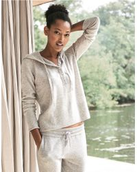 The White Company | Cashmere Henley Hoodie | Lyst