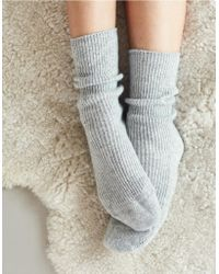 The White Company - Cashmere Bed Socks - Lyst