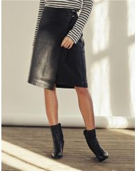 The White Company - Leather Wrap Skirt - Lyst
