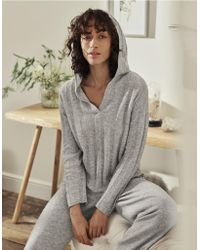 The White Company - Cashmere Wide Rib Hoodie - Lyst