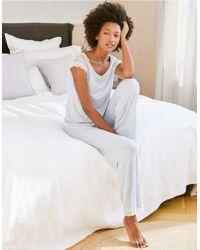 The White Company - Lace Cap Sleeve Pyjama Set - Lyst